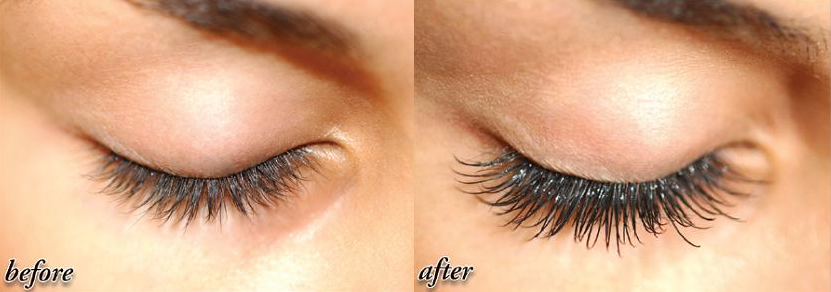 eyelash before after